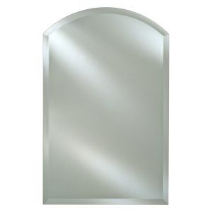 Decor Wonderland Odelia Oval Bevel Frameless Wall Mirror 22w X
