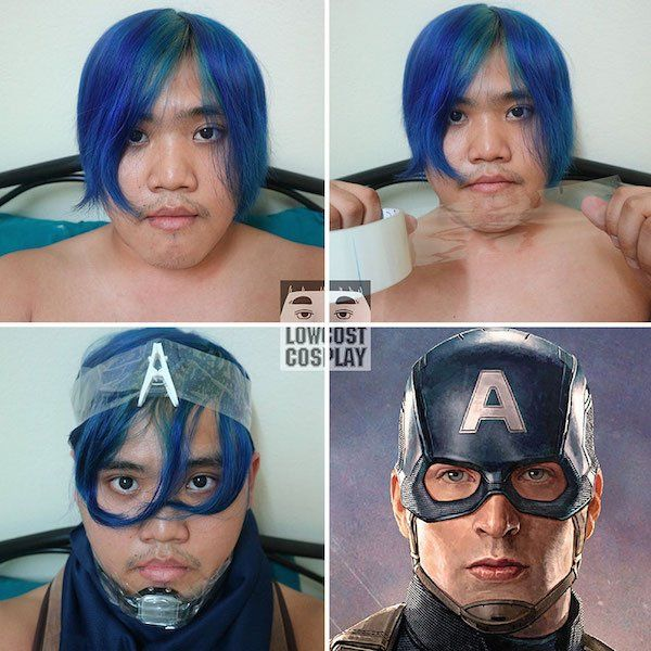 Kid hilariously makes own Cosplay outfits with hou