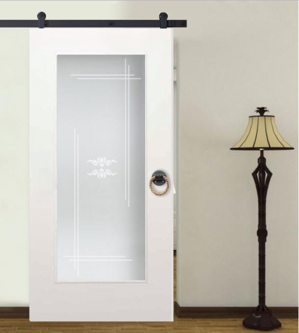 1 Lite Mdf Sliding Barn Door With Glass Insert Wgd 0008 Glass Barn Doors Glass Door Sliding Glass Door