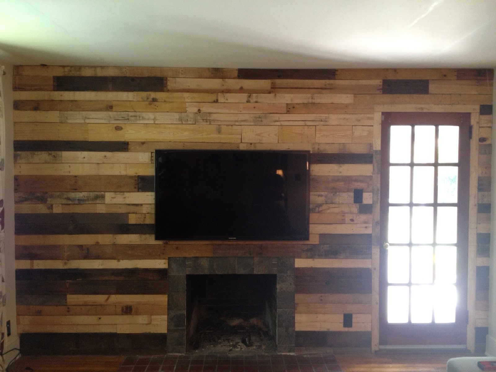 pallet fireplace surround google search projects for don