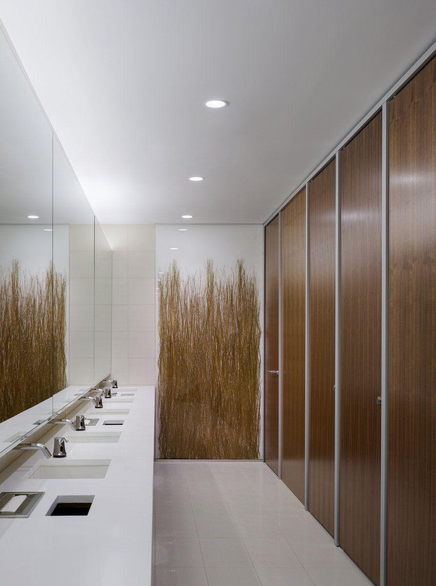 Office Tour: The Advisory Board Company Offices – Washington DC | Public restroom design, Restroom design, Condo design