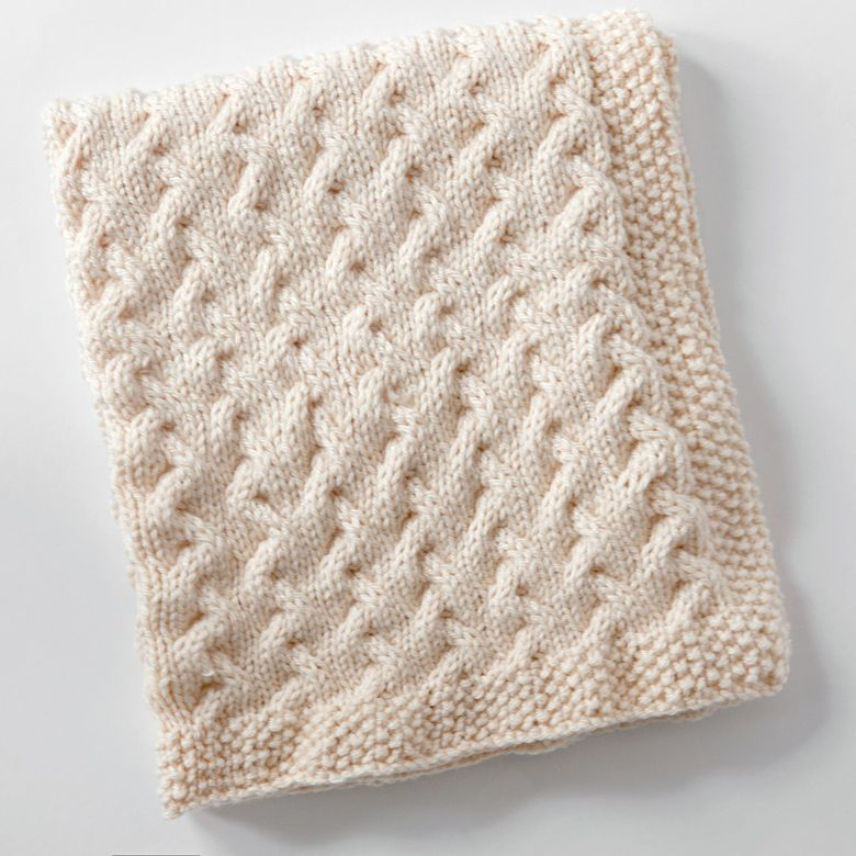 Tiny Ripples Free Baby Blanket Knitting Pattern Needlework
