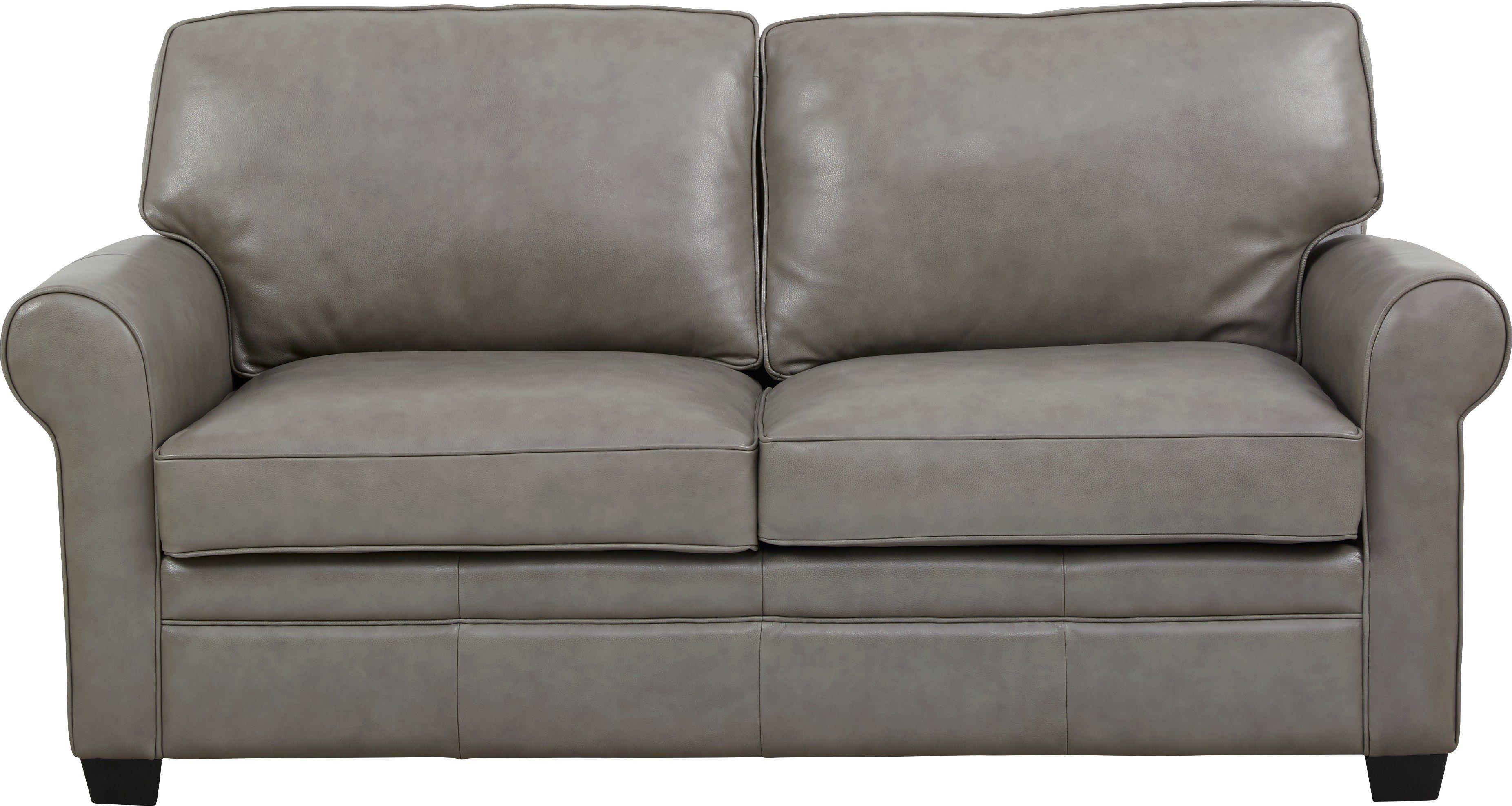 Nikola Place Gray Leather Sleeper Loveseat Loveseat Sleeper Love Seat Grey Leather