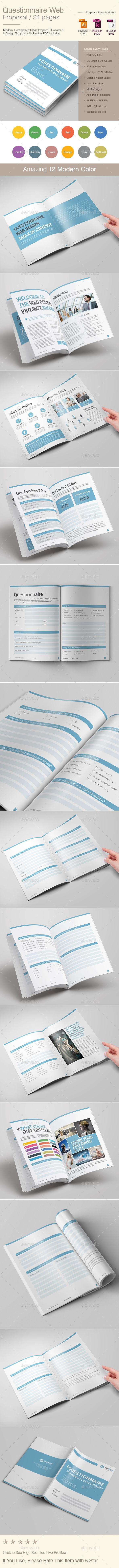 Questionnaire Web Design Proposal | Proposals, Proposal templates ...