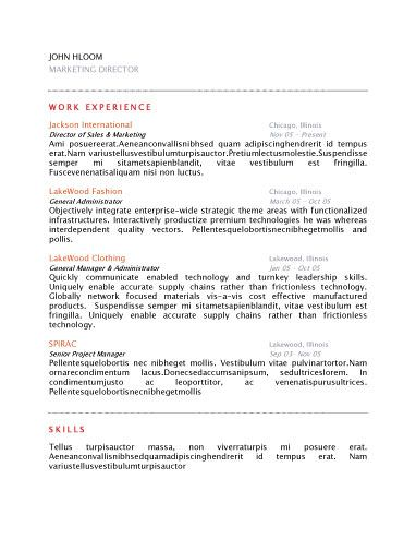 Tidy  Free Resume Template By HloomCom  Office