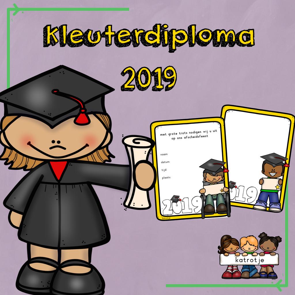 kleuterdiploma schooljaar 2019 met afbeeldingen