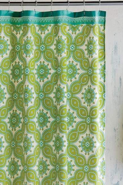 John Robshaw Petra Shower Curtain Green Shower Curtains