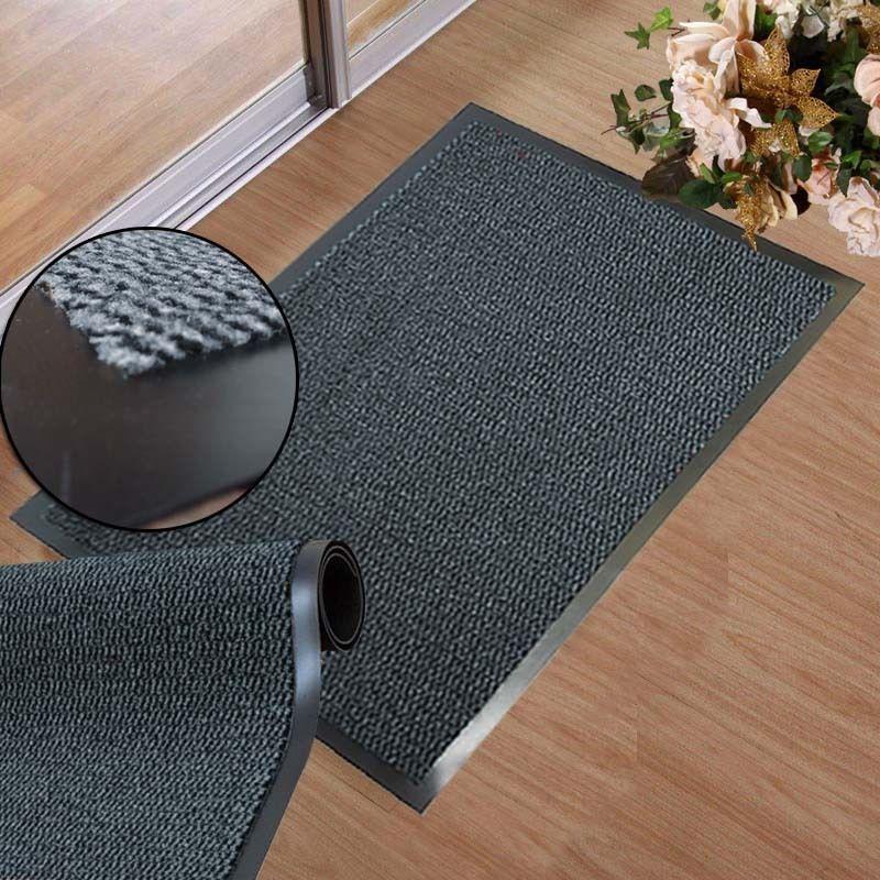 Large Grey Rubber Door Entrance Barrier Mat Mats Heavy Duty Hard Wearing Rugs