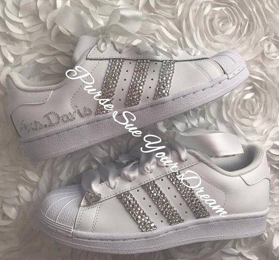 Swarovski Crystal Design Bridal Adidas Superstar Wedding Shoes - Swarovski  Adidas - Swarovski Weddin b722aaffc1b3