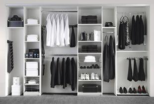 Inloopkast Van Kvik : Wardrobe by kvik storage in open wardrobe