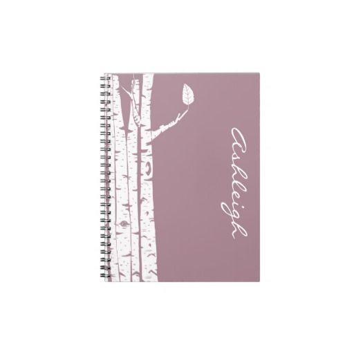 Pink Birch Trees Spiral Notebook