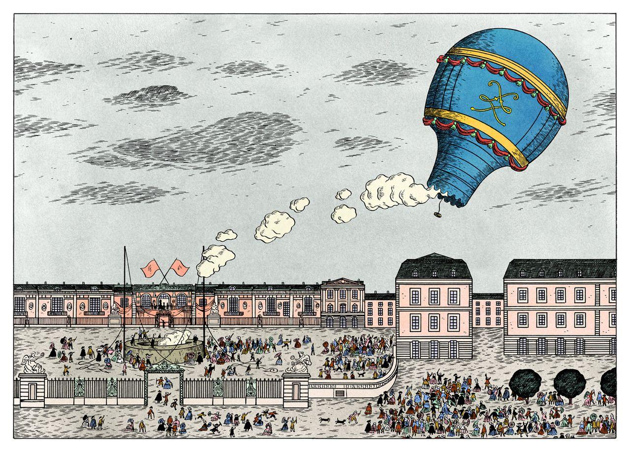 (1783) Ascension of the Montgolfiére Aérostat Réveillon at