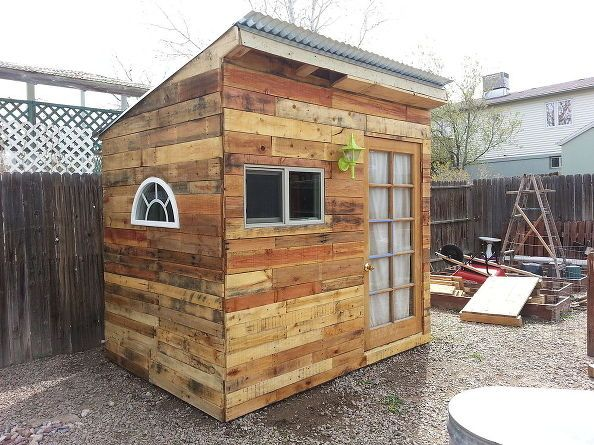 WE NEED TO REFINISH THE SHED. pallets garden shed build playhouse, gardening, outdoor living