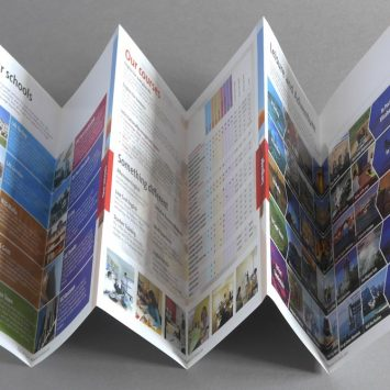 Tactile and eyecatching brochures, large and small – Tristram Grevatt