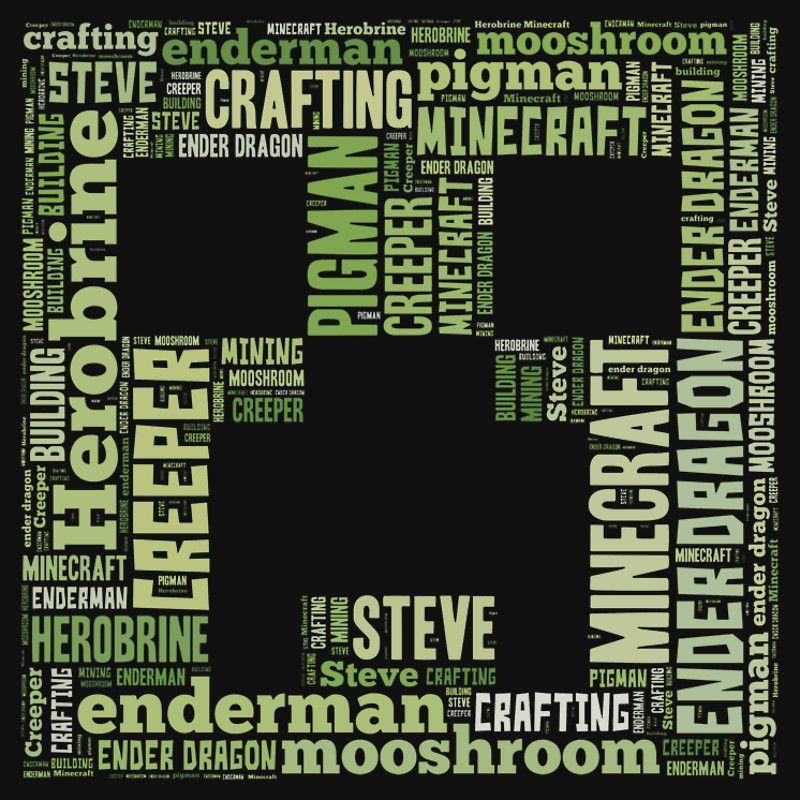 """Minecraft Creeper WordArt"" T-Shirts & Hoodies by terlan | Redbubble"