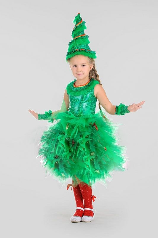 Toddler Christmas Tree Costume Pageant Tutu Dress