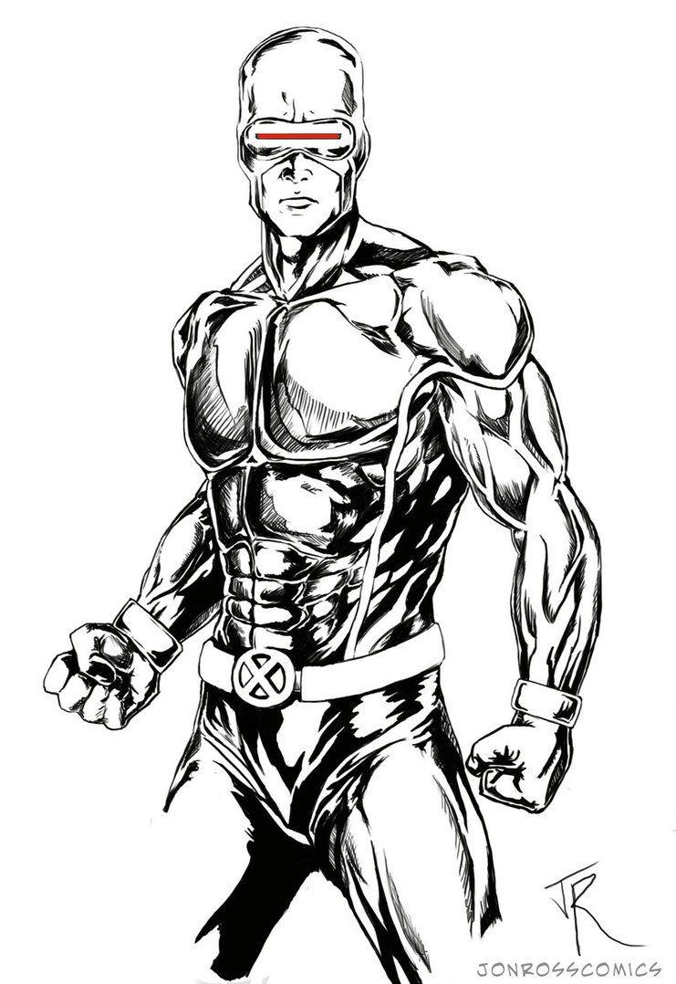 Amazing X Men Xmen Cyclops Black White Art Cyclops