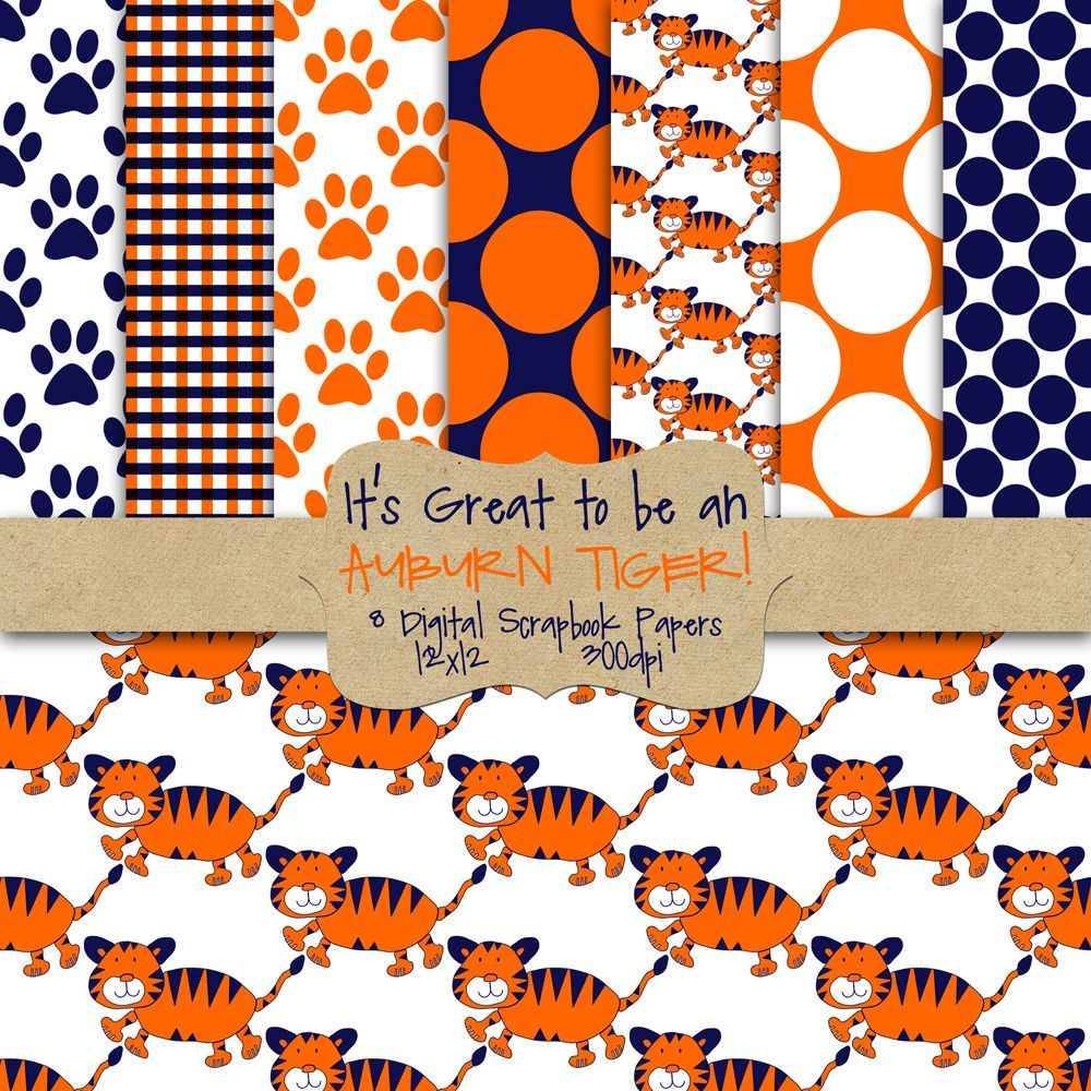 Free AUBURN Digital Paper! - For Sammy's Next Birthday