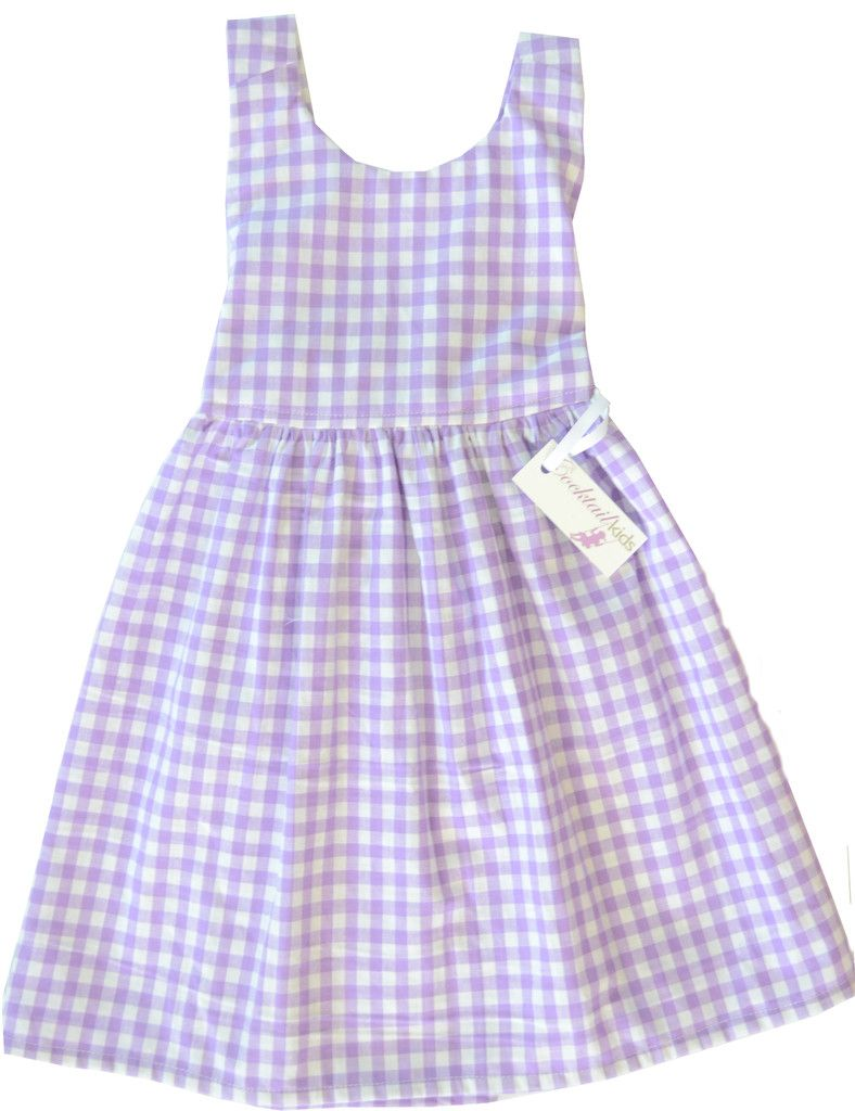 The Jessie - Cocktail Kids Purple Gingham dress!