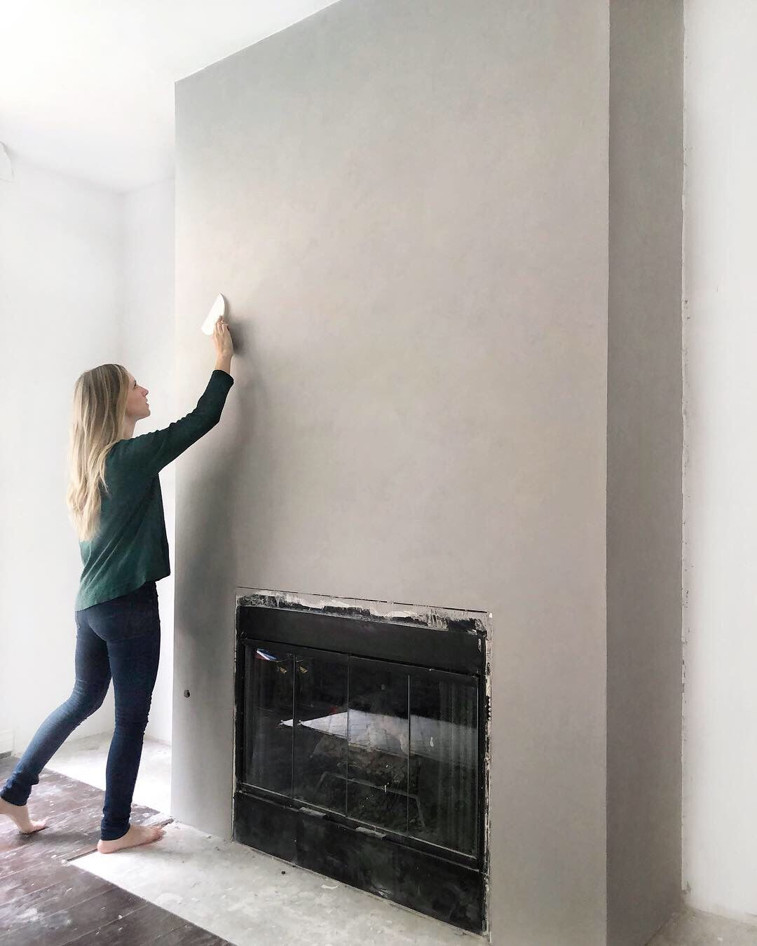 DIY a Cement Look Fireplace for less than $100 - A