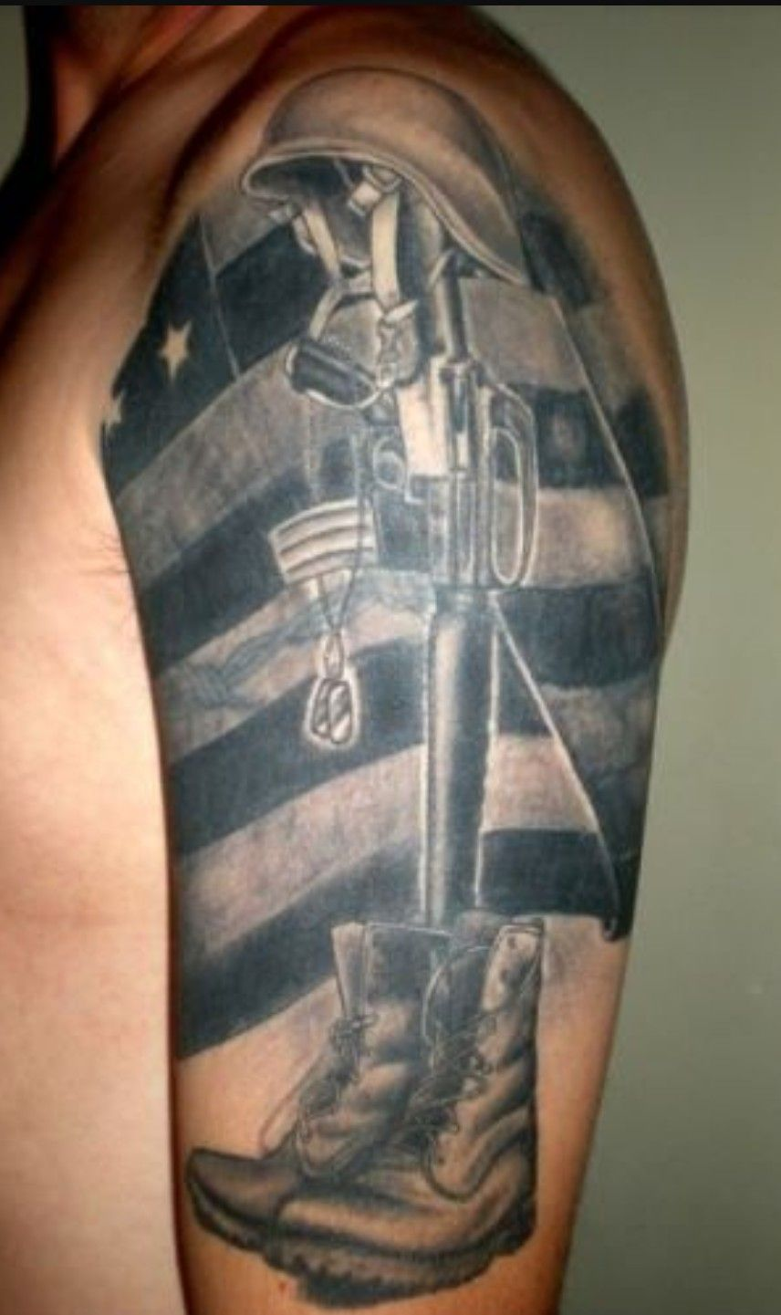 38+ Awesome Military fallen soldier tattoos image ideas
