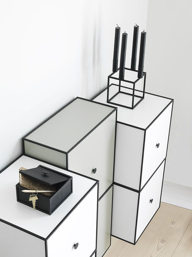 The all-time classic, Kubus 4, on top of a Frame storage unit.