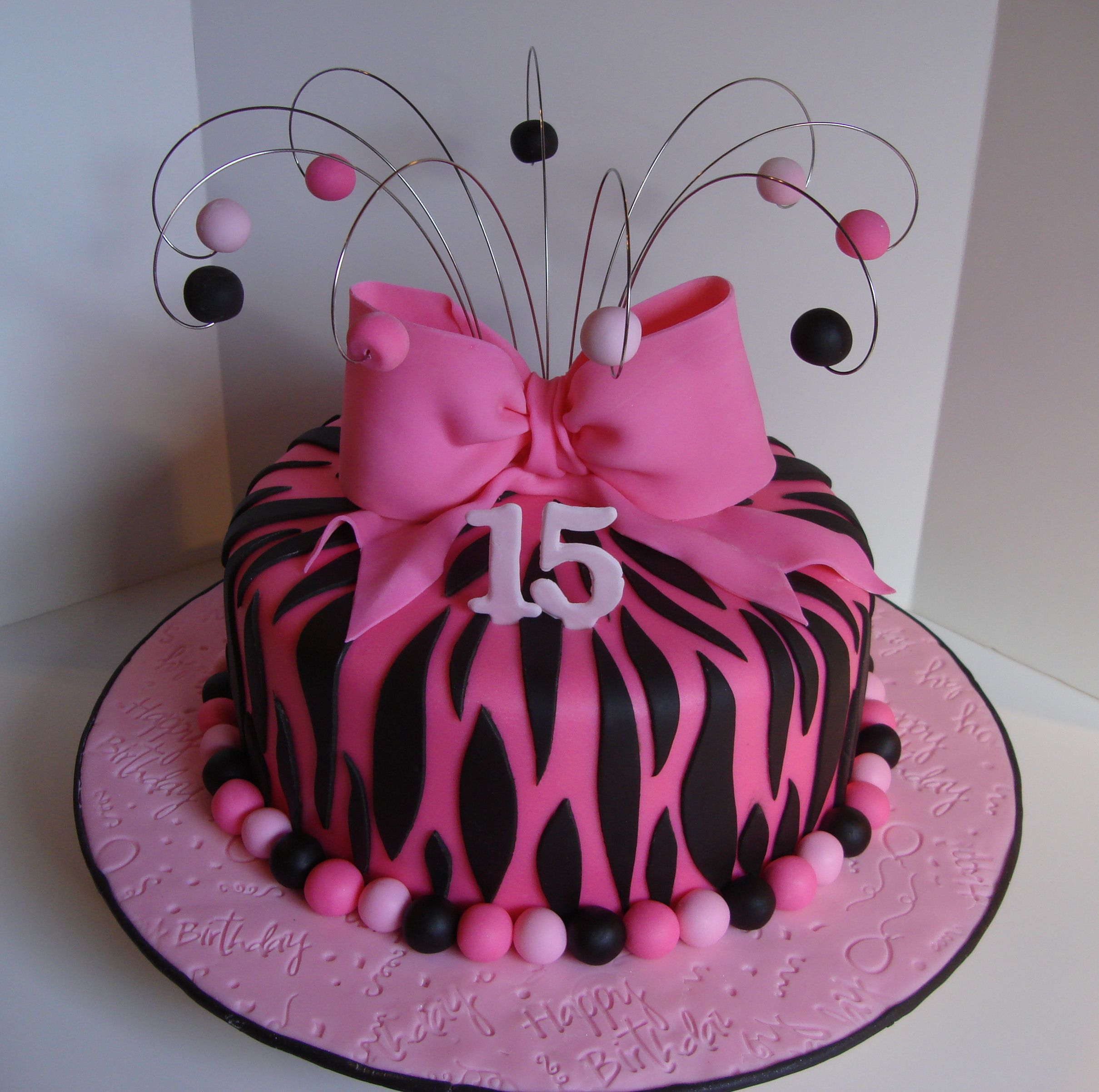 Pink Zebra Birthday Cake Is 10 Sour Cream Vanilla Colored