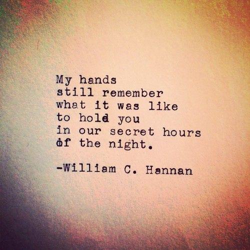 Our Secret Hours by William C. Hannan | Affair quotes
