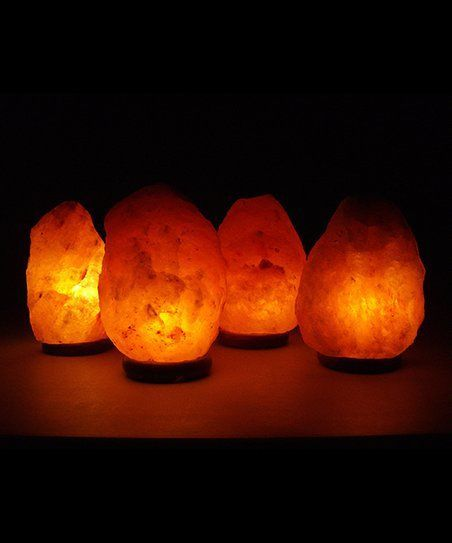 Where To Buy A Himalayan Salt Lamp Mesmerizing Himalayan Salt Shop 7 Himalayan Salt Lamp  Set Of Four  Zulily Design Decoration