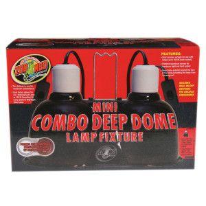 Zoo Med Mini Combo Deep Dome Reptile Lamp Fixture Reptile Lights Deep Online Lighting Stores