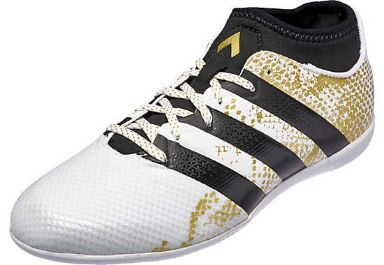 Adidas Kids Ace 16 3 Primemesh In Soccer Shoes White Metallic Gold Soccer Master Adidas Soccer Shoes Adidas Kids Soccer Shoes
