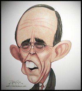 Rudy Giuliani Caricature Sketch Political Caricature Caricature Drawing