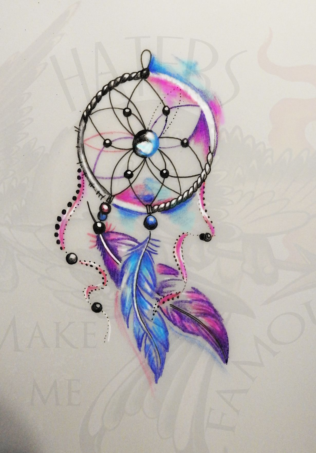 #tattoo #tattoodesign #dreamcatcher #female