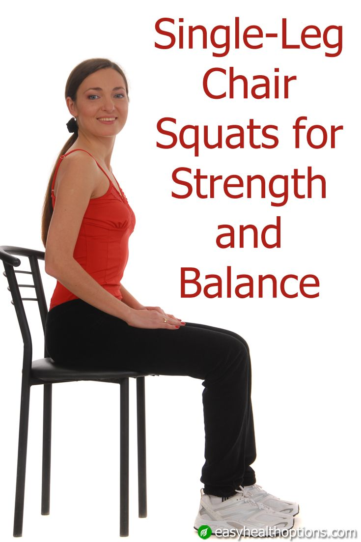 Single Leg Chair Squats For Strength And Balance Squats Fitness Inspiration Excercise
