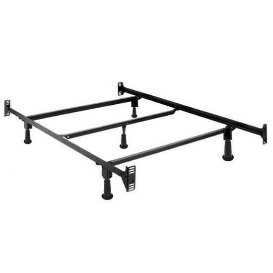 Full Size High Rise Metal Bed Frame W Headboard Footboard