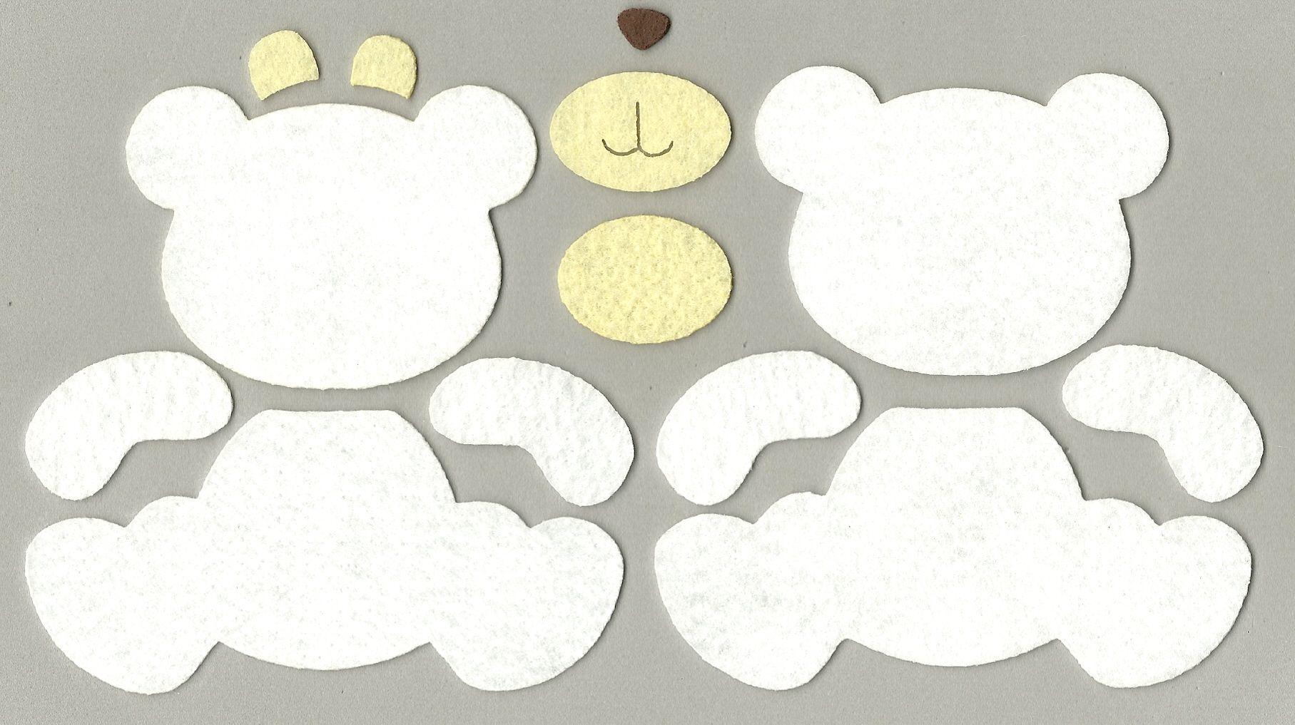 molde urso feltro - Pesquisa Google | moldes en fieltro | Pinterest ...