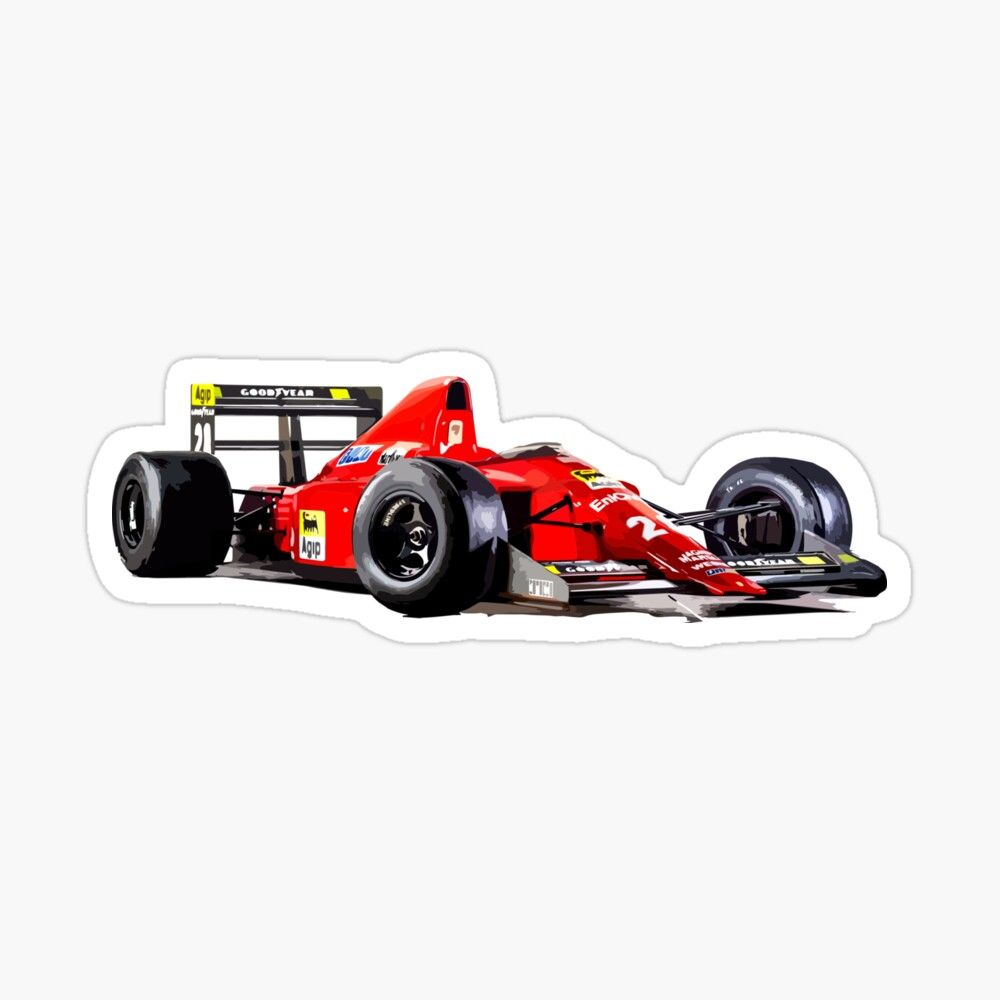 1989 640 F1 89 F1 Car Sticker By Fromthe8tees In 2021 Racing Stickers Car Stickers [ 1000 x 1000 Pixel ]