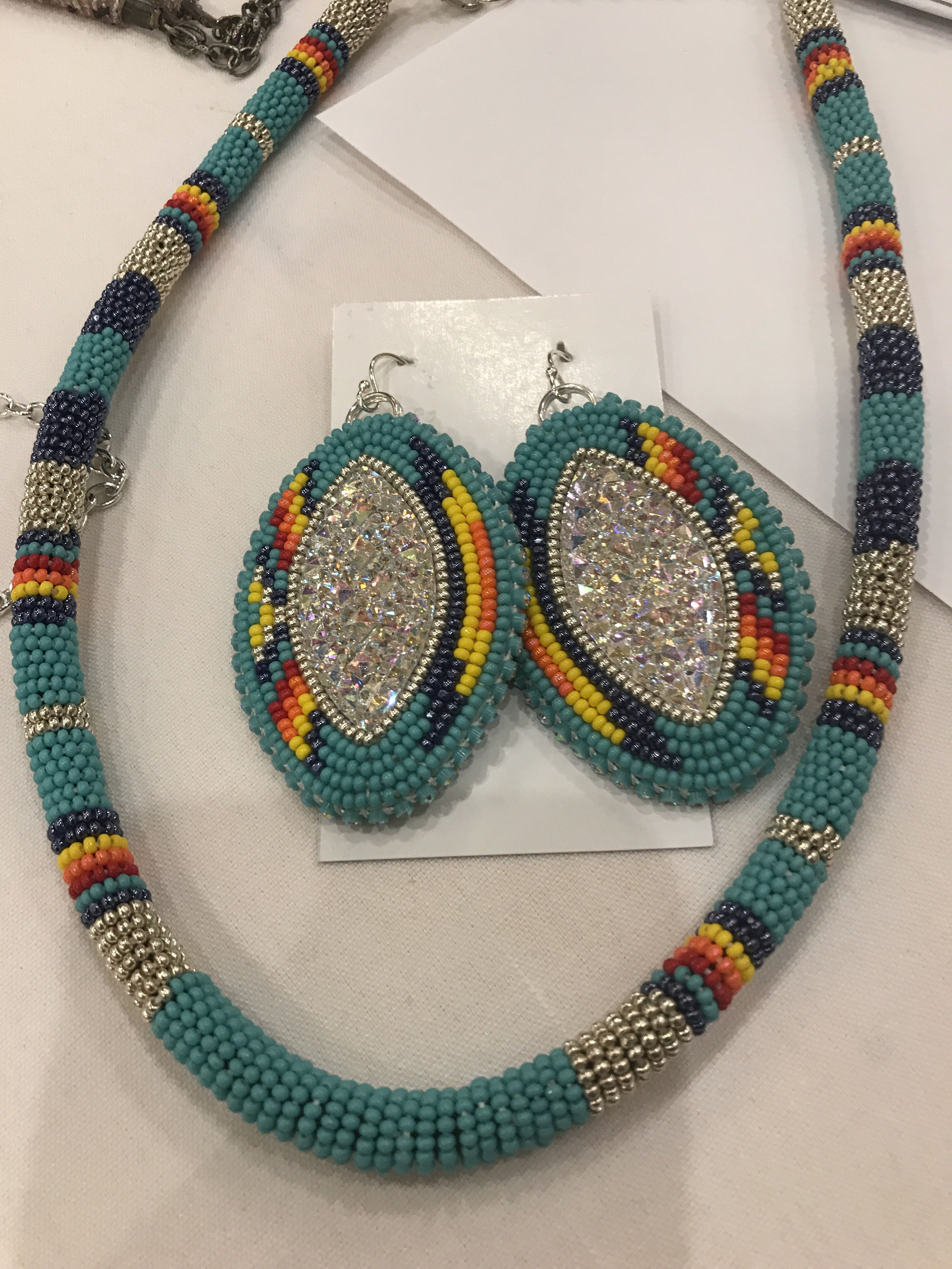 Necklace Earrings Set Made By Ina James Point Sold April 2019