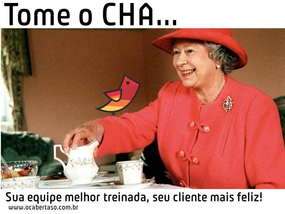 Não é só a rainha que toma CHA http://www.ocabertaso.com.br/blog/2014/02/tomando-cha/