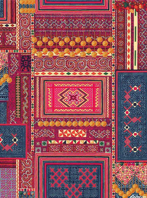 Mandalay print in Fuchsia/Gold | Hoffman Challenge, 2015