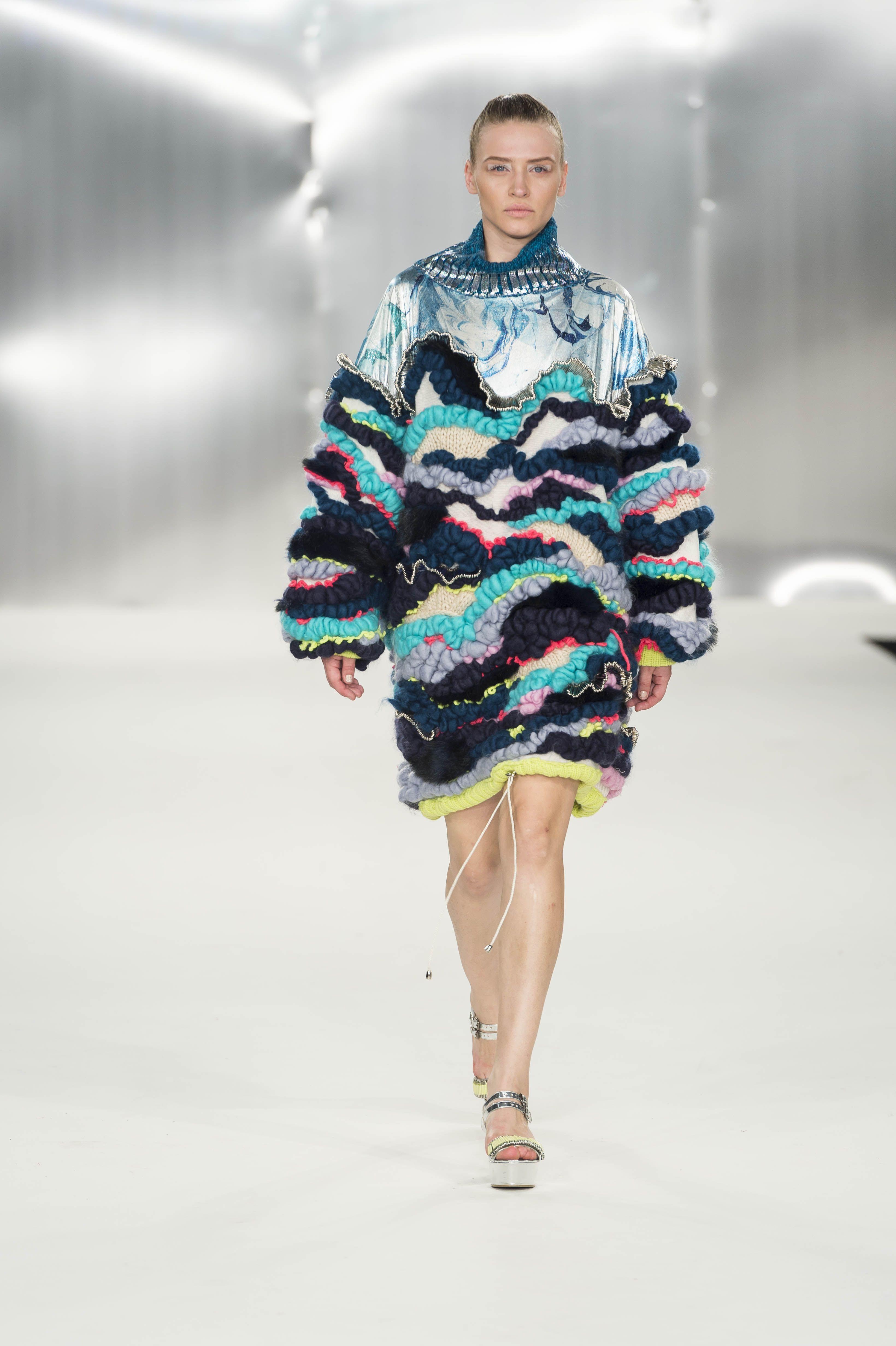 Design By De Montfort University Dmu Fashion Design Student Imogen Abbot On The Catwalk At Graduate Fashion Week Gfw Textiles Fashion Fashion Fashion Design