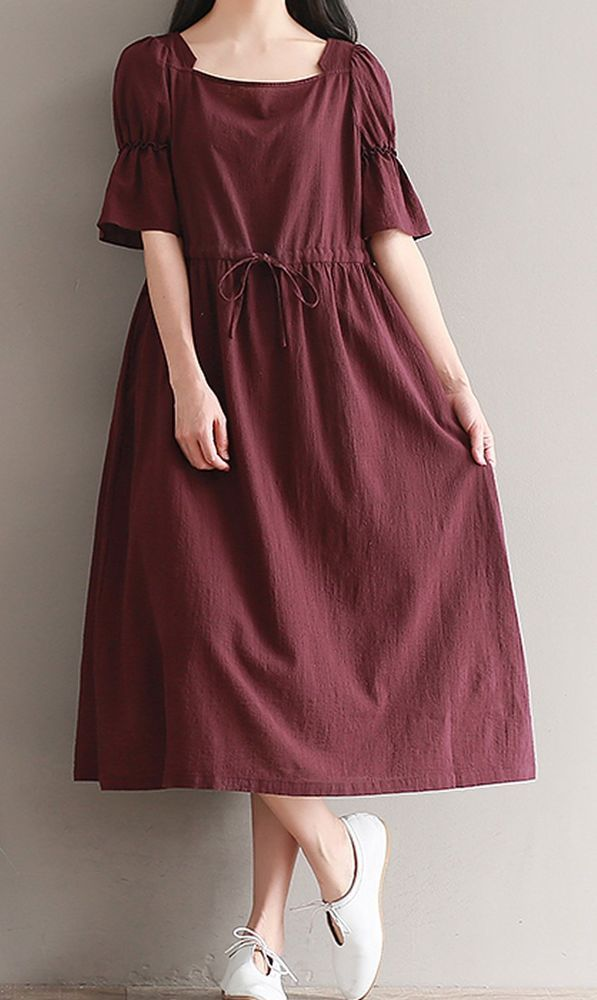 117da38a7a Women loose fitting over plus size red dress long maxi tunic pregnant  maternity  Unbranded  dress  Casual