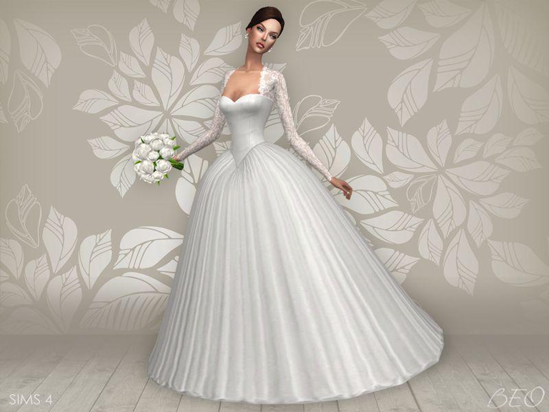 Lana CC Finds - Wedding dress - Cynthia (S4) | Sims 4 | Pinterest ...