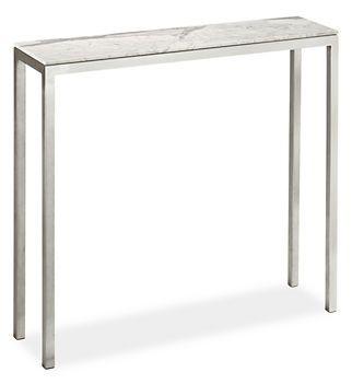 Portica Console Table 32x8 W/ Venatino Marble Top | Room U0026 Board   A Petite