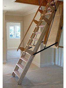 Sandringham Electric Wooden Loft Ladder Attic Ladder Folding