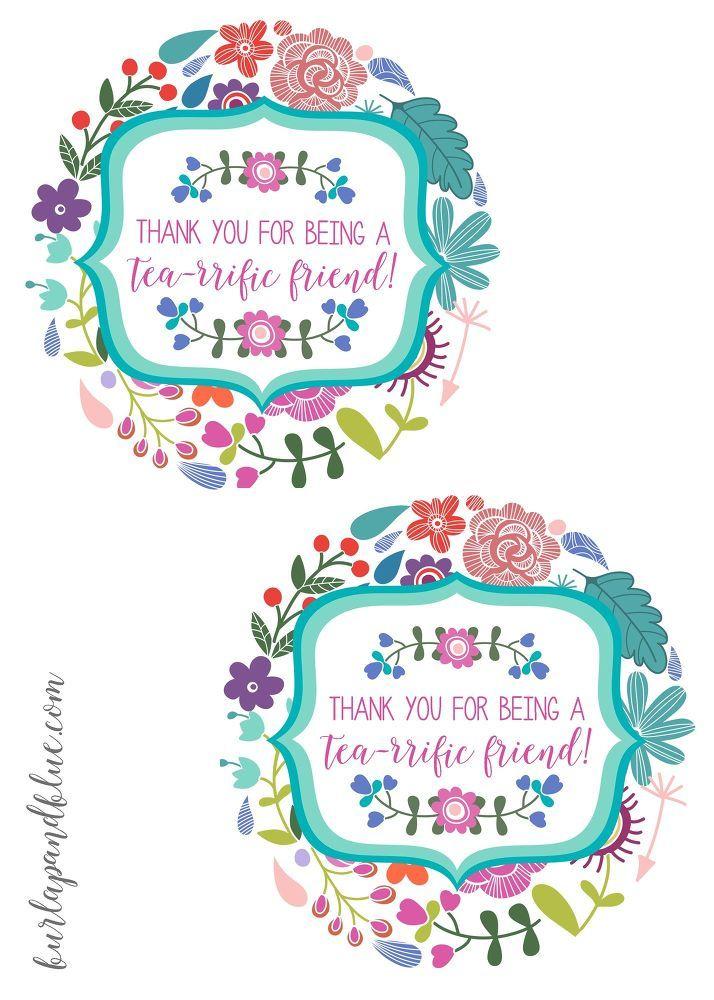 Tea gift basket ideas free printable tags negle Image collections