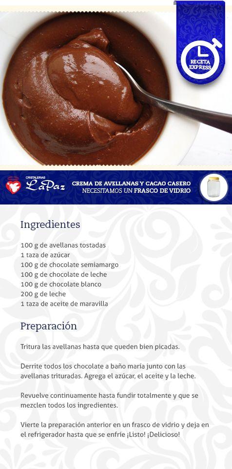 Crema De Avellanas Recetas De Cocina Cremas Dulces Postres Dulces