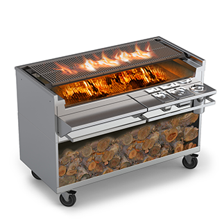 Our Shallow-Box Wood Grill 26 series is unique as a solid-fuel ...