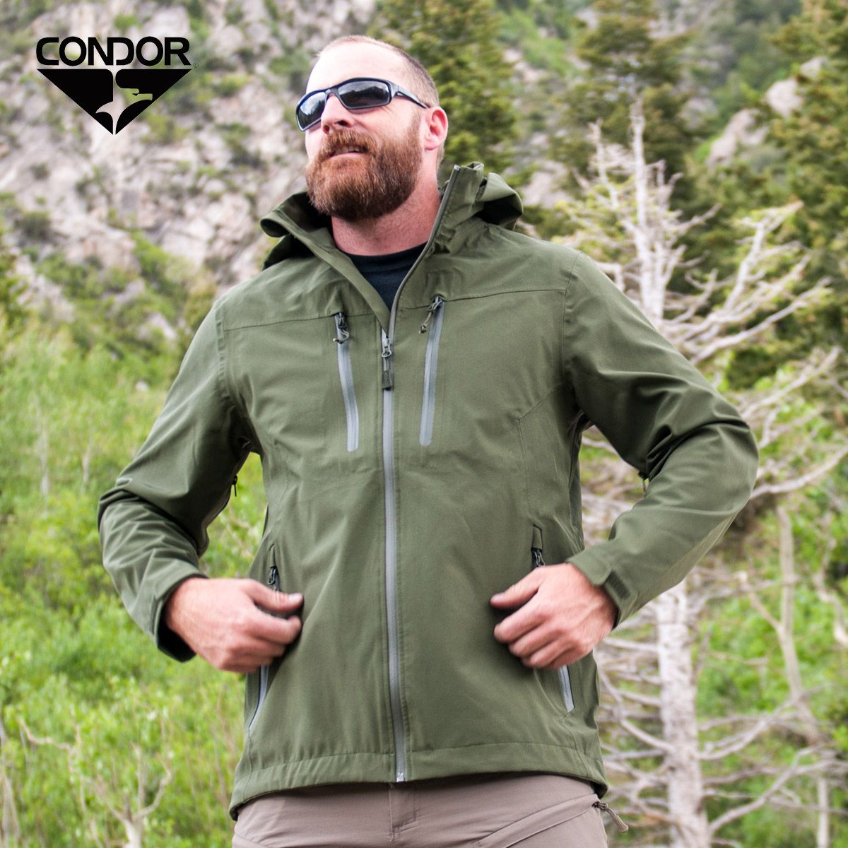 4ce634be Condor Aegis is comfortable and waterproof hardshell jacket with a large  hood, waterproof full-
