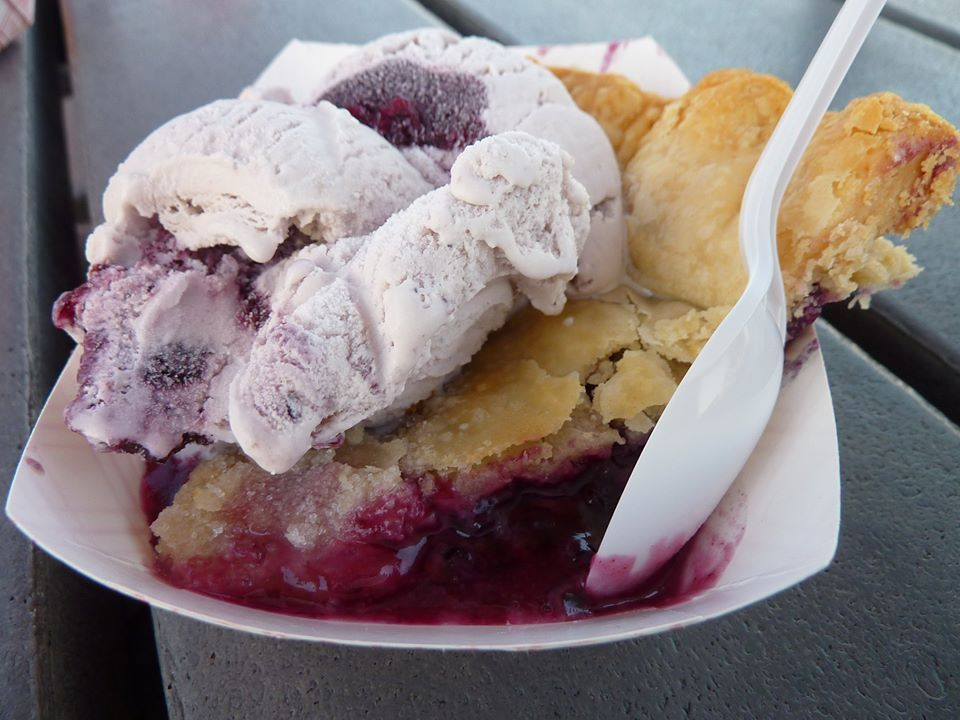 How about a dish of wild maine blueberry pie and ice cream